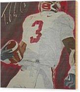 Trent Richardson Alabama Crimson Tide Wood Print by Ryne St Clair