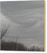Turbulent Sky Wood Print by Deb Kline