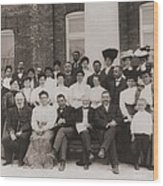 Tuskegee Institute Faculty Wood Print by Everett
