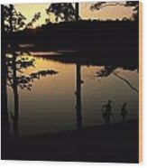 Twilight Over Walden Pond, Made Famous Wood Print by Tim Laman