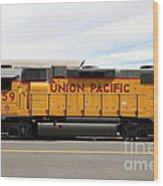 Union Pacific Locomotive Train - 5d18648 Wood Print by Wingsdomain Art and Photography
