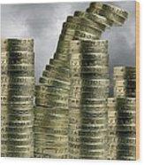 Unstable Economy, Conceptual Image Wood Print by Victor De Schwanberg