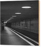 Unter Der Linden Ghost Station U-bahn Station Berlin Germany Wood Print by Joe Fox