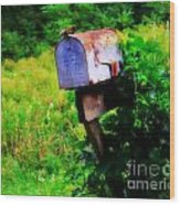 U.s. Mail 2 Wood Print by Perry Webster