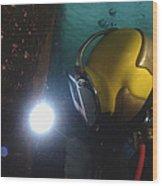 U.s. Navy Diver Welds A Repair Patch Wood Print by Stocktrek Images