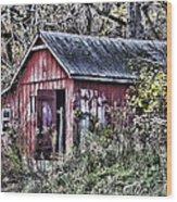 Us61 Barn Wood Print by Georgeann  Chambers