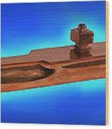 Uss Enterprise Cvan 65 Bronze Wood Print by Carl Deaville