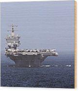 Uss Enterprise In The Arabian Sea Wood Print by Gert Kromhout