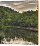 Valley River Wood Print by Greg and Chrystal Mimbs