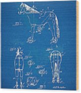 Velocipede Horse-bike Patent Artwork 1893 Wood Print by Nikki Marie Smith