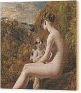 Venus And Cupid  Wood Print by William Etty