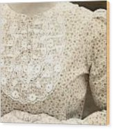 Victorian Dress Wood Print by Joana Kruse