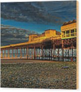 Victorian Pier Wood Print by Adrian Evans