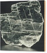 View Of A Sample Of Selenite, A Form Of Gypsum Wood Print by Kaj R. Svensson