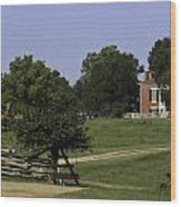 View Of Appomattox Courthouse 1 Wood Print by Teresa Mucha