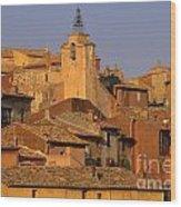 Village De Roussillon. Luberon Wood Print by Bernard Jaubert