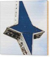 Vintage Star Sign Wood Print by Sophie Vigneault