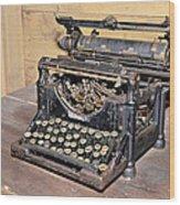 Vintage Typewriter Wood Print by Susan Leggett