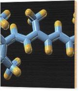 Vitamin A (retinal) Molecule Wood Print by Dr Mark J. Winter