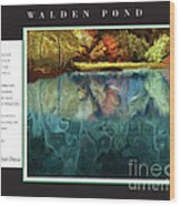 Walden Pond Wood Print by David Glotfelty
