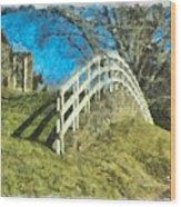 Warwick's Curve Wood Print by Trish Tritz