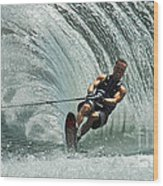 Water Skiing Magic Of Water 10 Wood Print by Bob Christopher