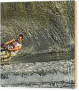 Water Skiing Magic Of Water 8 Wood Print by Bob Christopher