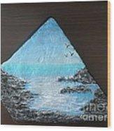 Water With Rocks Wood Print by Monika Shepherdson
