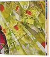 Watermelon Season Wood Print by Rebecca Cozart