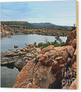 Watson Lake  Wood Print by Julie Lueders