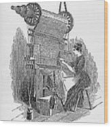 Weaving Loom Wood Print by �science, �industry & Business Librarynew York Public Library