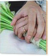 Wedding Rings Wood Print by Carlos Caetano