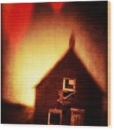 Welcome To Hell House Wood Print by Edward Fielding