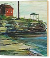 Wells Harbor Maine Wood Print by Scott Nelson