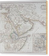 West Africa And Arabia Wood Print by Fototeca Storica Nazionale