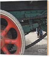 Wheels Of Steam Powered Truck 7d15103 Wood Print by Wingsdomain Art and Photography