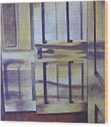 When One Door Closes Wood Print by Patsy Sharpe
