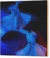 Whirling Dervish - 3 Wood Print by Okan YILMAZ