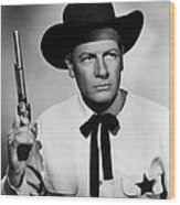 Wichita, Joel Mccrea, 1955 Wood Print by Everett