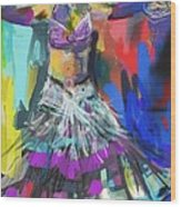 Wild Belly Dancer Wood Print by Barbara Kelley