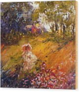 Wildflowers Wood Print by Marie Green