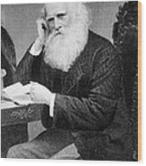 William Cullen Bryant, American Poet Wood Print by Photo Researchers
