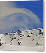 Wind Skier Wood Print by Tap On Photo