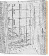 Window To History Wood Print by Michael Belgeri