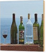 Wine In Mandatory In France Wood Print by Chris Ann Wiggins