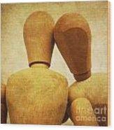 Wooden Figurines Wood Print by Bernard Jaubert