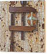 Wooden Vce And Easter Egg Wood Print by Garry Gay