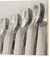 Wrenches Wood Print by Shannon Fagan
