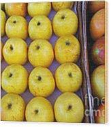 Yellow Apples Wood Print by Carlos Caetano