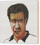 Younes El Aynaoui Wood Print by Emmanuel Baliyanga